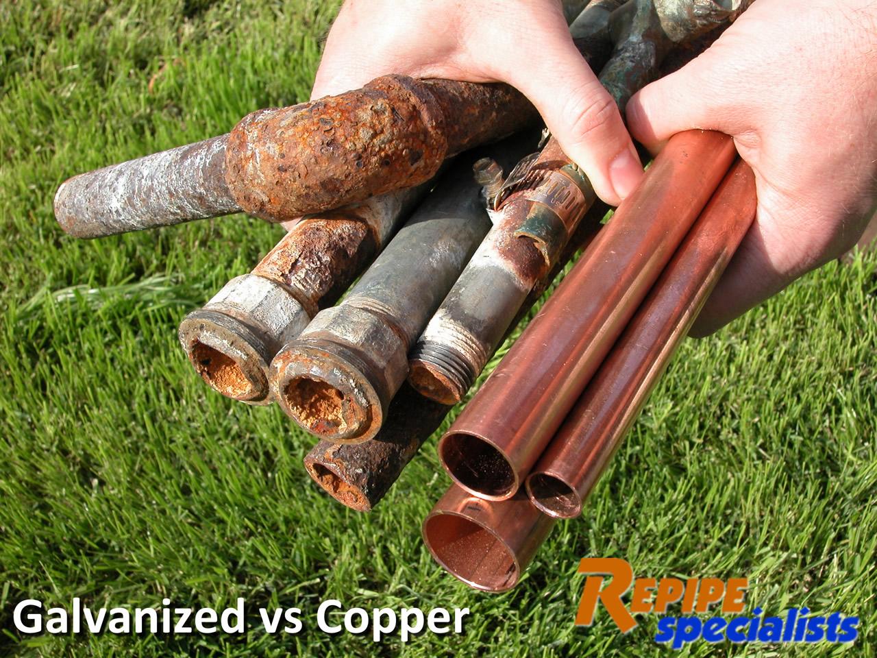 superb copper pipe vs pex #5: Superior Copper Piping Vs Pex #8: Before And After - Galvanized Vs Copper  Pipe Used In Bay Area Repipe Installation.